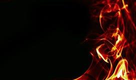 Marco abstracto del fuego en bacground negro Imagen de archivo