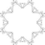 Marco abstracto del garabato Imagen de archivo
