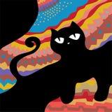 Marco abstracto del gato Imagenes de archivo