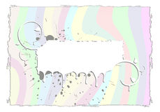 Marco abstracto del grunge del arco iris Fotos de archivo libres de regalías
