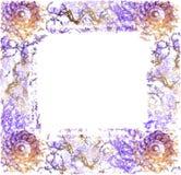 Marco abstracto para la tarjeta de felicitación Fotografía de archivo
