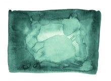 Marco abstracto verde Spruce sombreado de la frontera del fondo de la acuarela Fotografía de archivo
