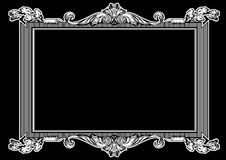 Marco adornado blanco y negro de la vendimia Foto de archivo