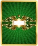 Marco adornado de oro stock de ilustración