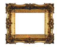 Marco adornado del oro Foto de archivo libre de regalías
