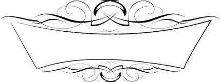 Marco adornado del vector blanco y negro Ilustración del Vector