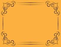 Marco adornado del vector en un fondo amarillo Imagenes de archivo