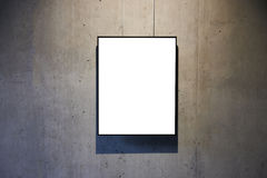 Marco aislado blanco vacío Fotografía de archivo