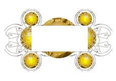 Marco amarillo abstracto Imagen de archivo libre de regalías
