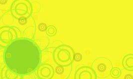 Marco amarillo con el círculo verde Foto de archivo