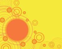 Marco amarillo con el circl anaranjado Foto de archivo