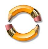 Marco amarillo del lápiz Imagen de archivo libre de regalías