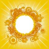 Marco amarillo del verano Imágenes de archivo libres de regalías