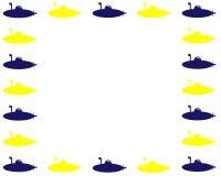 Marco amarillo y azul de la imagen del vector de los submarinos libre illustration