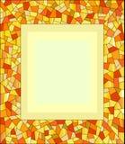 Marco ambarino del mosaico Fotografía de archivo