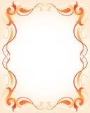 Marco anaranjado con las rayas Fotos de archivo libres de regalías