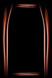 Marco anaranjado hecho de humo Fotos de archivo libres de regalías