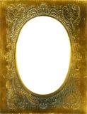 Marco antiguo con la estera del oro Fotos de archivo libres de regalías