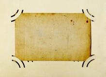 Marco antiguo de la foto Imagenes de archivo
