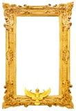 Marco antiguo de oro aislado Imagenes de archivo