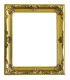 Marco antiguo de oro aislado imágenes de archivo libres de regalías