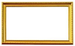 Marco antiguo de oro aislado Imagen de archivo