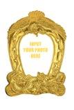 Marco antiguo de oro de la foto Fotografía de archivo libre de regalías