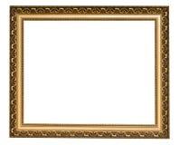 Marco antiguo del oro Foto de archivo libre de regalías