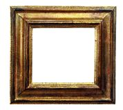 Marco antiguo del oro Fotos de archivo