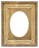 marco antiguo dorado con la ilustración Imagen de archivo libre de regalías