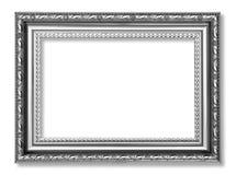 Marco antiguo gris aislado en el fondo blanco Imagenes de archivo