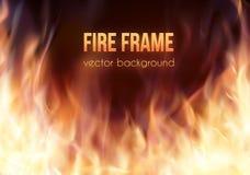 Marco ardiente Fondo ardiente del vector Fotos de archivo libres de regalías