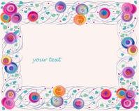 Marco artístico de la flor Foto de archivo libre de regalías