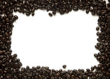 Marco asado de los granos de café foto de archivo