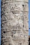Marco Aurelio kolumna w Rzym Zdjęcia Stock