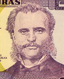 Marco Aurelio Soto. On 2 Lempiras 2003 Banknote from Honduras. Liberal president of Honduras during 1876-1883 Royalty Free Stock Images
