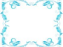 Marco azul Imágenes de archivo libres de regalías