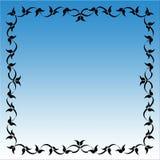 Marco azul Imagenes de archivo