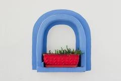 Marco azul Imagen de archivo libre de regalías