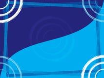 Marco azul abstracto stock de ilustración