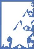 Marco azul con las estrellas blancas Fotografía de archivo libre de regalías