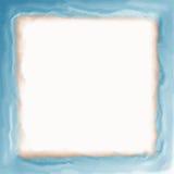 Marco azul con los bordes suaves Foto de archivo