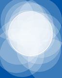 Marco azul de Digitaces Fotografía de archivo