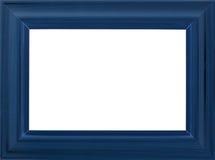 Marco azul de la foto Fotografía de archivo