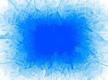 Marco azul de la helada del vector ilustración del vector