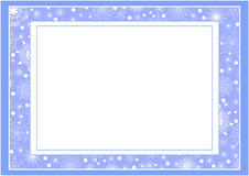 Marco azul de la Navidad Fotografía de archivo libre de regalías