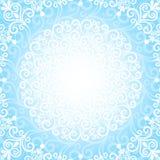 Marco azul de la Navidad Imagenes de archivo