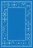 Marco azul de la sabiduría del círculo stock de ilustración