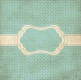 Marco azul de la vendimia Imágenes de archivo libres de regalías