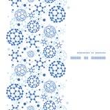 Marco azul de la vertical de la textura de las moléculas del vector Imagen de archivo libre de regalías